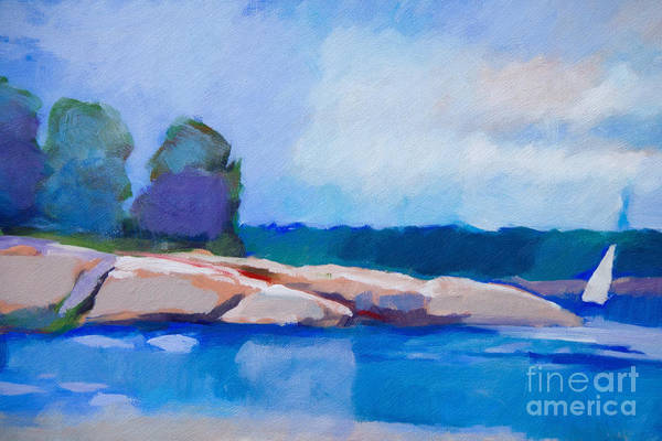 Painting - Coast Impression II by Lutz Baar