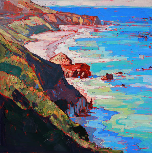 California Landscape Painting - Coast Line by Erin Hanson