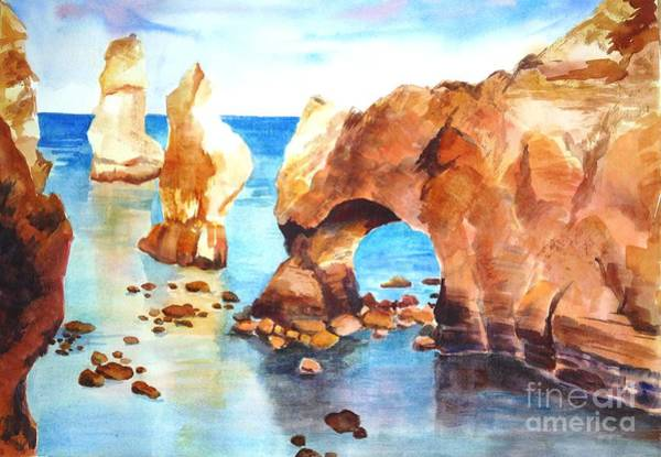 Painting - Coast Of Portugal by Betty M M   Wong