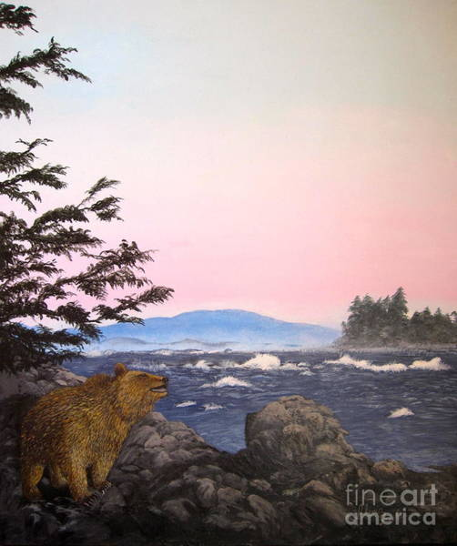 Coastal Bear Art Print