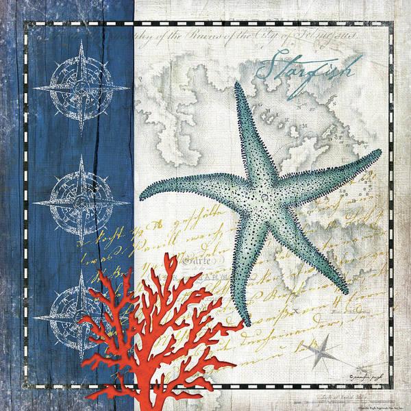 Starfish Painting - Coastal Blue Starfish by Jennifer Pugh