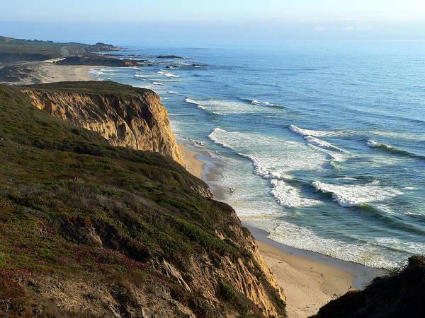 Photograph - Coastal California Beach Waves by Jeff Lowe