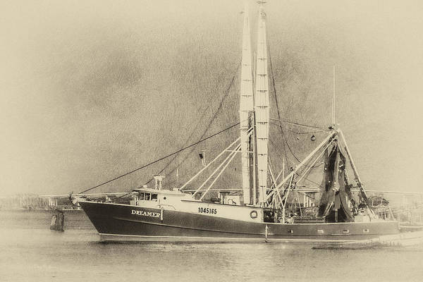 Photograph - Shrimp Boat - Nautical - Coastal Dreaming 2 by Barry Jones