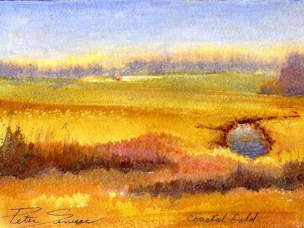 Painting - Coastal Gold by Peter Senesac