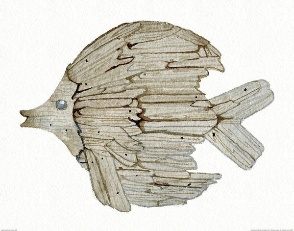 Driftwood Painting - Coastal Holiday Ornament I Wal by Kathleen Parr Mckenna