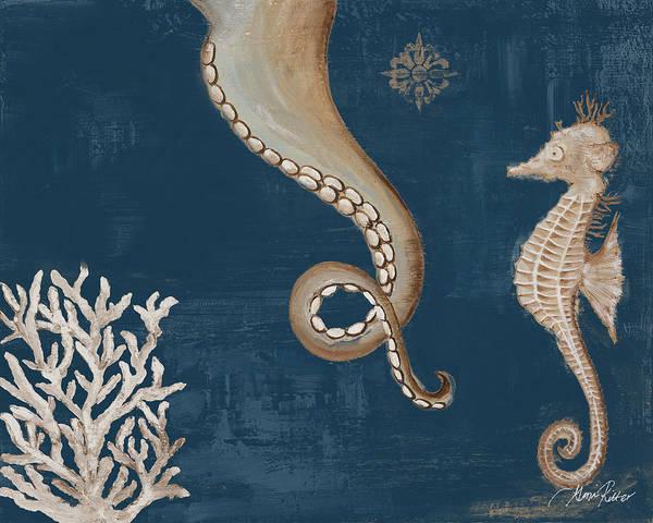 Coastal Digital Art - Coastal Life On Blue II by Gina Ritter