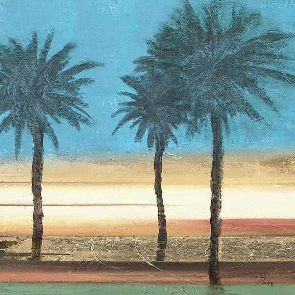 Palm Trees Digital Art - Coastal Palms II by Patricia Pinto