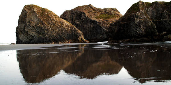 Photograph - Coastal Reflections by TL  Mair