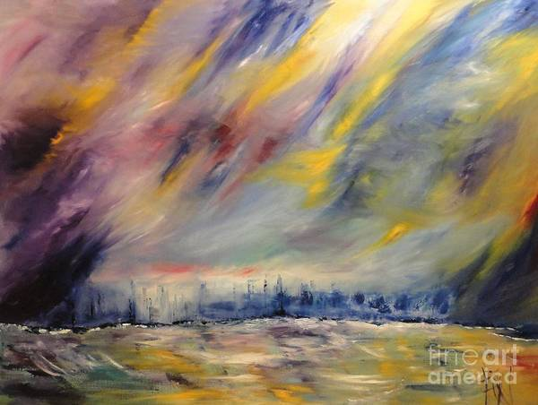 Overflow Painting - Coastal Storm by PainterArtist FIN