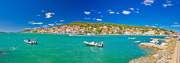 Wall Art - Photograph - Coastal Town Of Tisno Panorama by Brch Photography