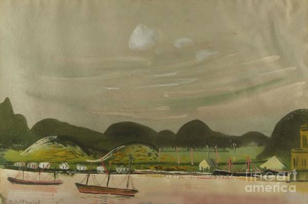 Russian Impressionism Wall Art - Painting - Coastal View With Mountains South America by Celestial Images