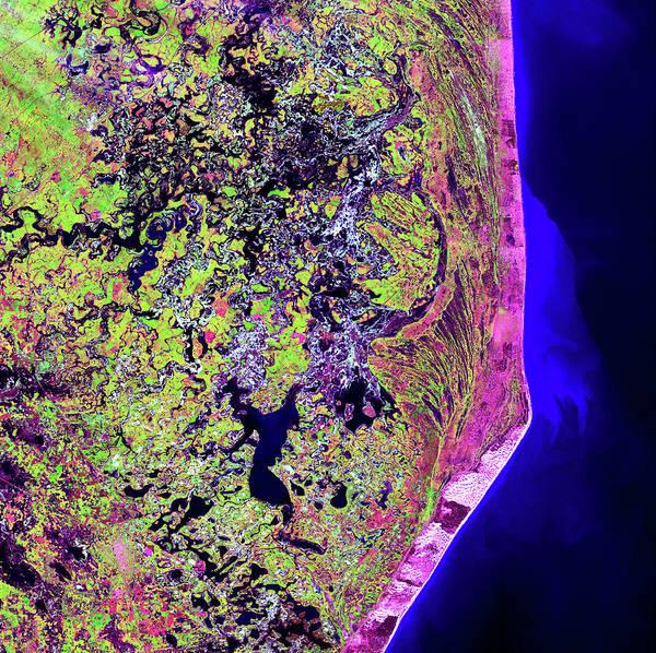 Coastal Marshes Photograph - Coastal Wetlands by Nasa/science Photo Library