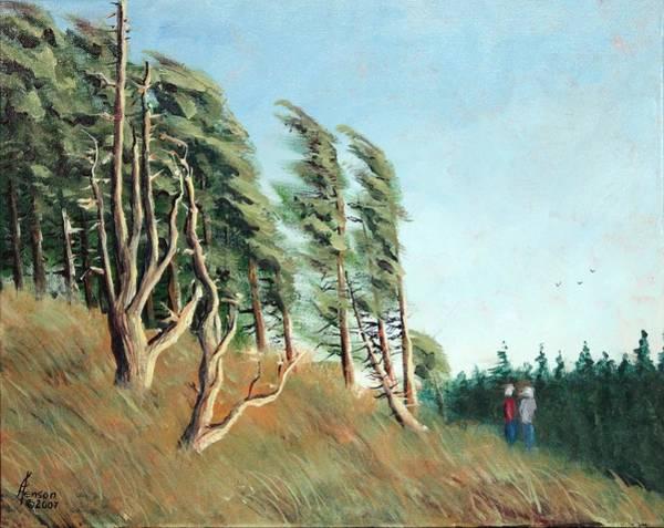 Oregon Coast Mixed Media - Coastal Wind by Kenny Henson