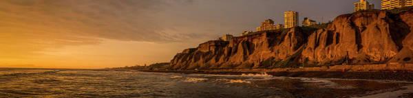 Lima Photograph - Coastline At Dusk, Playa Waikiki by Panoramic Images