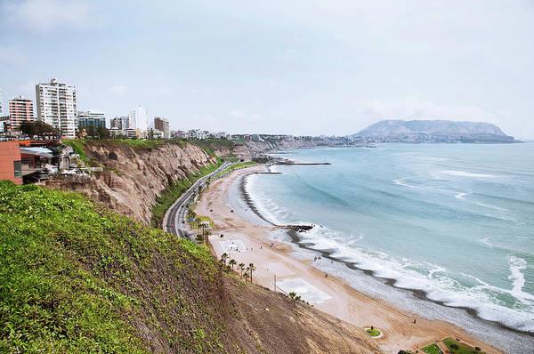Lima Photograph - Coastline Of Lima, Peru by Blake Burton