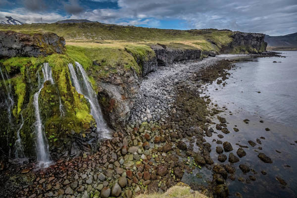 Wall Art - Photograph - Coastline With Waterfalls by Arctic-images