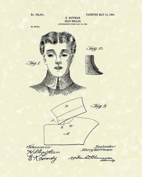 Drawing - Coat Collar 1904 Patent Art by Prior Art Design
