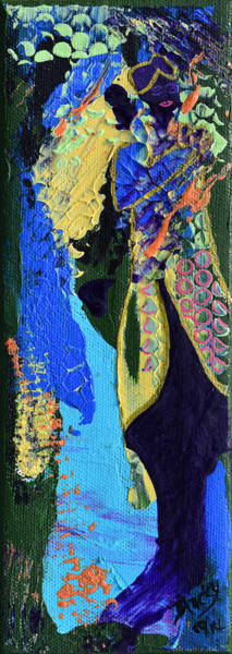 Wall Art - Painting - Coat Of Many Colors by Donna Blackhall