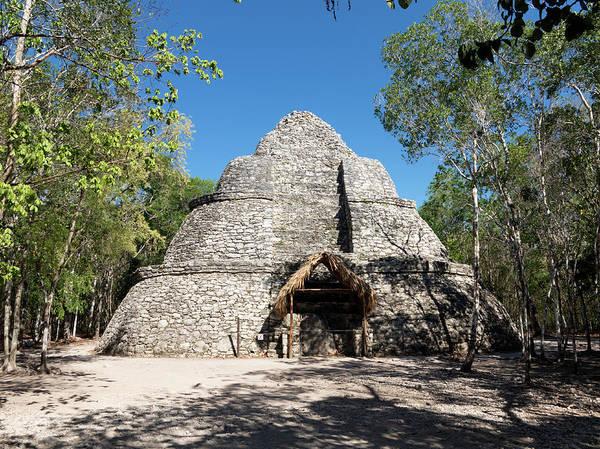 Quintana Roo Photograph - Coba Mayan Pyramid by Daniel Sambraus/science Photo Library