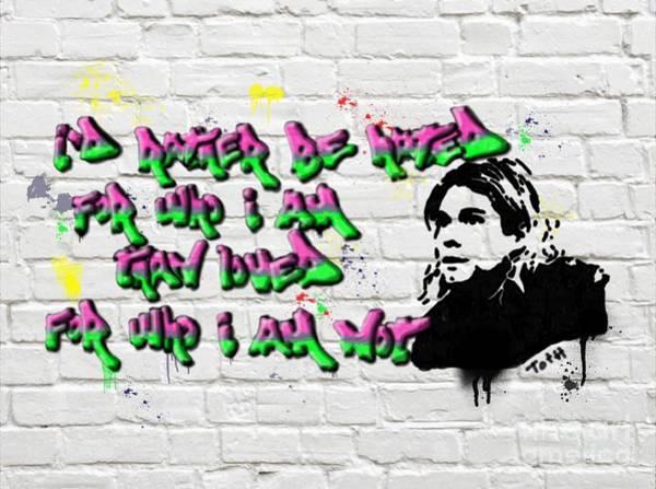 Digital Art - Cobain Graffiti by Laura Toth