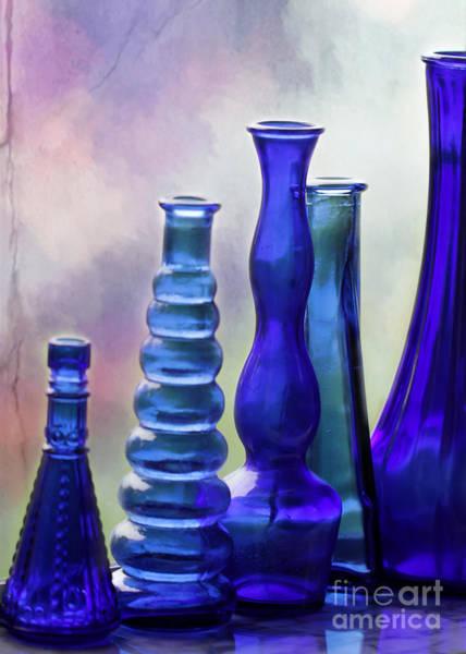 Photograph - Cobalt Blue Bottles by Sabrina L Ryan