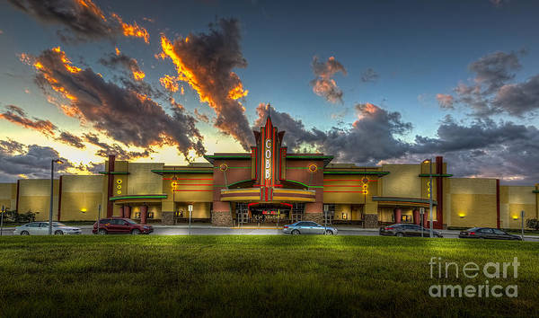 Neon Photograph - Cobb Theater by Marvin Spates