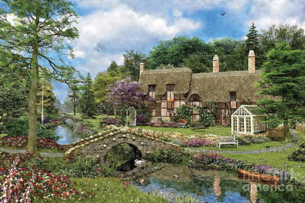 Order Digital Art - Cobble Walk Cottage by MGL Meiklejohn Graphics Licensing