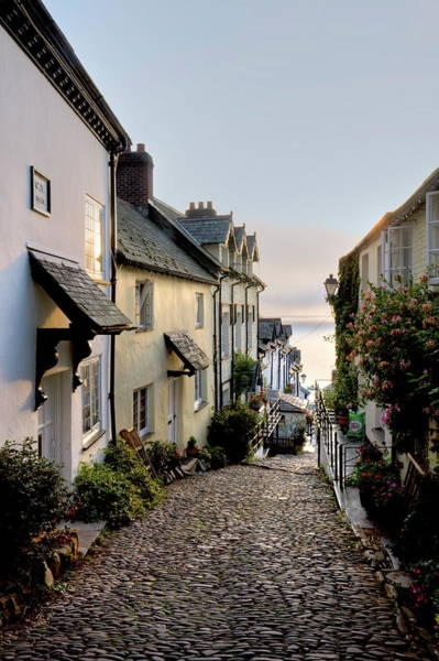 English Culture Photograph - Cobbled Lane In Clovelly Fishing by Adam Burton / Robertharding