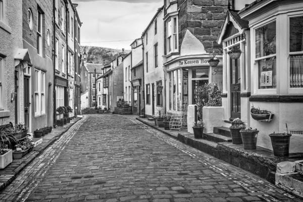 Photograph - B And W Cobbles by Susan Leonard