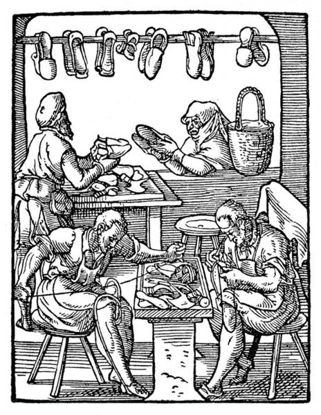 Jost Photograph - Cobblers, Shoemakers, 16th Century by Wellcome Images