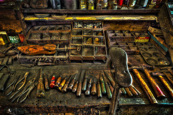 Photograph - Cobblers Tools by David Morefield