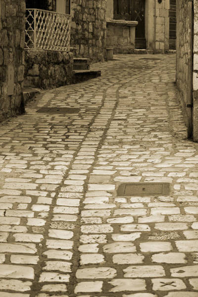 Hvar Wall Art - Photograph - Cobblestone by Alexey Stiop
