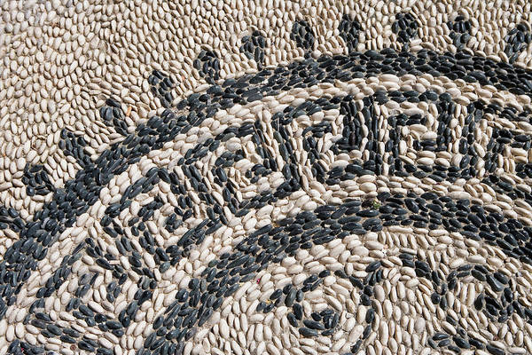 Dodecanese Photograph - Cobblestone Mosaic Detail by Holger Leue