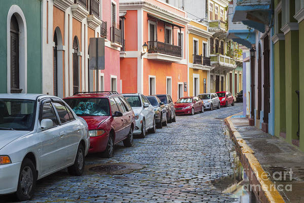 Photograph - Cobblestone Streets Of San Juan Puerto Rico by Bryan Mullennix