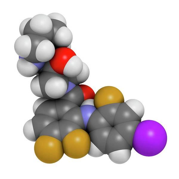 Pharma Wall Art - Photograph - Cobimetinib Melanoma Drug Molecule by Molekuul