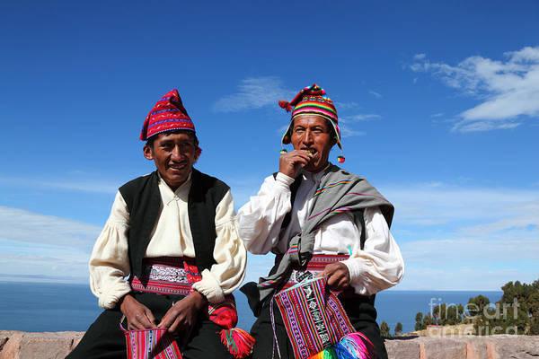 Photograph - Coca Break On Taquile Island Peru by James Brunker