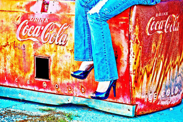 Coffee Mug Photograph - Coca-cola And Stiletto Heels by Toni Hopper
