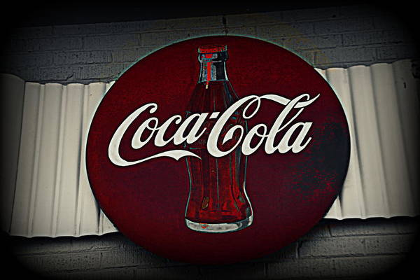 Photograph - Coca Cola Sign by Lisa Wooten