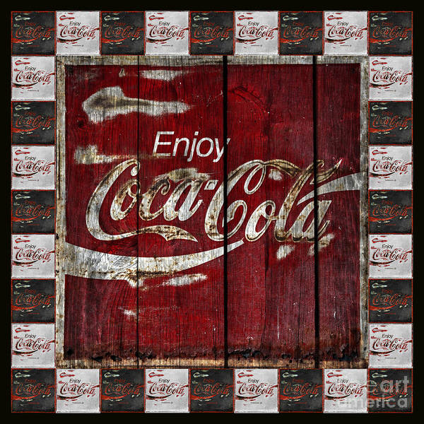 Coca Cola Photograph - Coca Cola Sign With Little Cokes Border by John Stephens