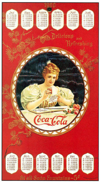 Ad Photograph - Coca - Cola Vintage Poster Calendar by Gianfranco Weiss