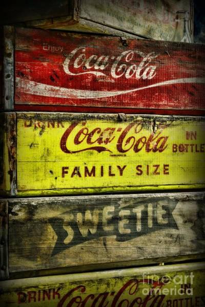 Soda Pop Wall Art - Photograph - Coca-cola Wooden Crates by Paul Ward