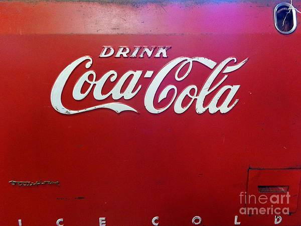 Wall Art - Photograph - Coca Cola Vintage Sign by Saundra Myles