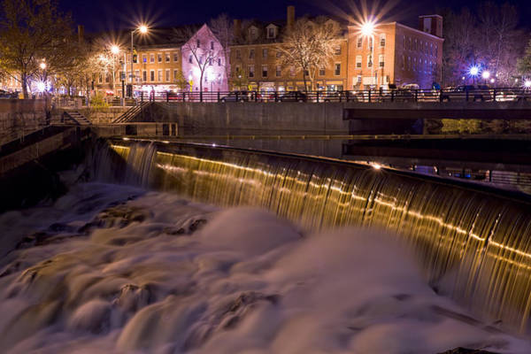 Photograph - Cocheco River Falls Dover Nh by Jeff Sinon