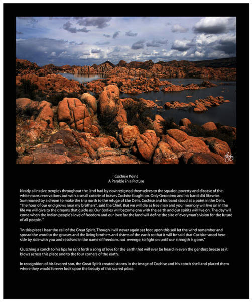 Photograph - Cochise Point A Parable In A Picture by Wayne King
