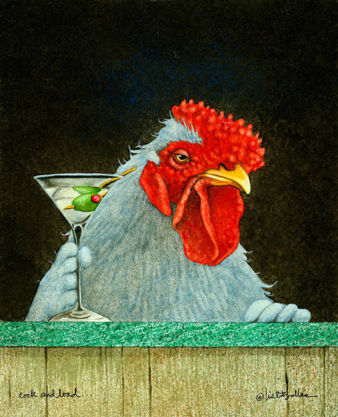 Martini Painting - Cock And Load... by Will Bullas
