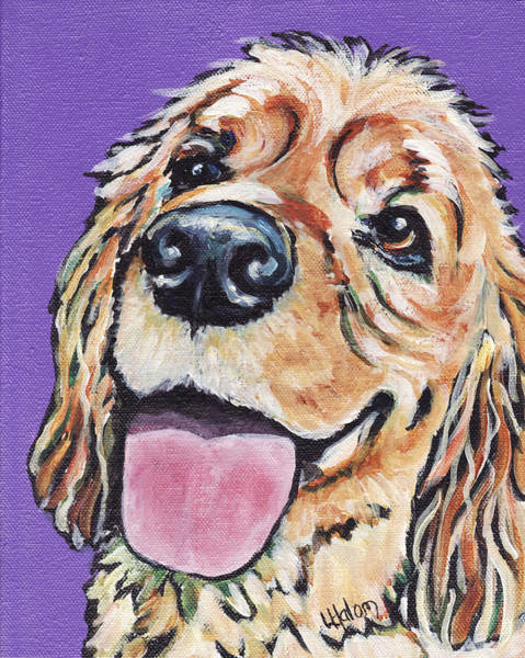 Painting - Cocker Spaniel by Greg and Linda Halom