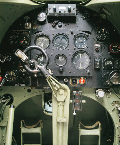 Wall Art - Photograph - Cockpit Controls Of A Spitfire Fighter by Skyscan/science Photo Library