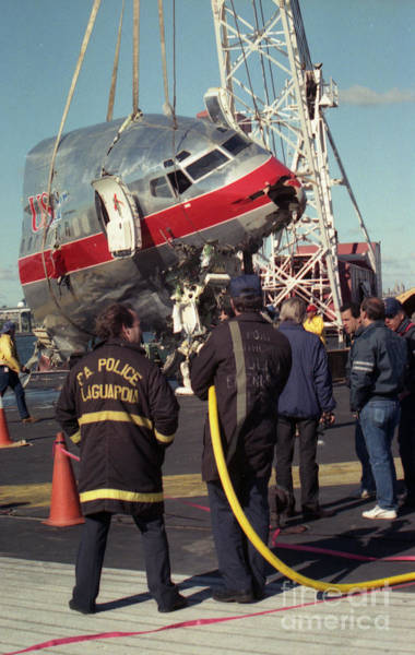 Photograph - Cockpit Removal From Flushing Bay by Steven Spak