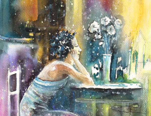 Russian Impressionism Wall Art - Painting - Coco Chanel Dreaming Of Igor Stravinsky by Miki De Goodaboom