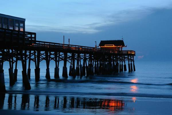 Photograph - Cocoa Beach Pier At Twilight by Bradford Martin
